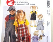 McCall's 8592 Boys' & Girls' Overalls  Size 5, 6