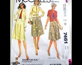 McCall's 7461  Misses' Jacket and Skirt  Size 10