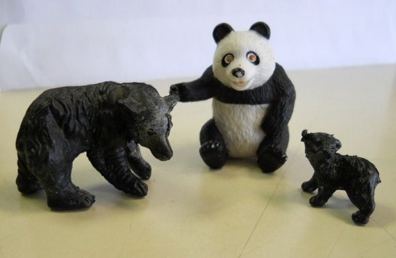 Set of 3 Vintage Bear Figurines