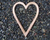 GREAT GIFT -- Large Solid Bronze Heart Outline -- 9 inches tall --