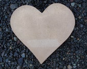Large Solid Bronze Heart -- 8 3/4 inches tall -- PERFECT WEDDING GIFT--