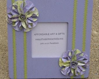 Purple & Lime Green Flower Frame Pretty Reminder Board