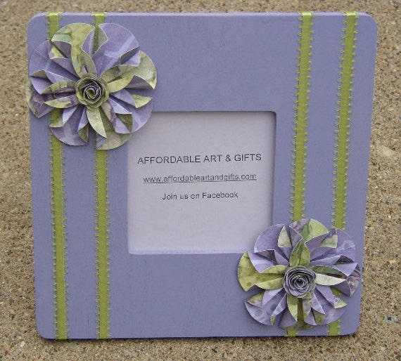 Purple & Lime Green Flower Frame Pretty Reminder Board