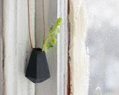 Geometric Planter, Black: A Wearable Planter