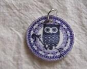 Handmade Colorful Shrink Pendants Charms Listing for ONE CHARM Bird Flower Owl