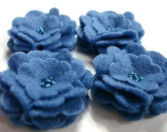 Set of 6pcs handmade felt flower - militia  (SCF)