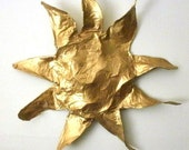 Papier Mache Wall Art Golden Sun