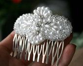 Bridal Hair Comb, EMILY, rhinestone pearl, wedding headpiece, headband, hair accessories, bridal, wedding, hair accessory, clip