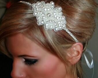 Bridal Headband, CINDERELLA, Rhinestone Headband, Bridal Headpiece, Wedding Headband, Crystal Headband, Hair Accessory