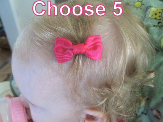 Hair Bow Styles: Baby Hair Bows NEW STYLE Mini Snap Clips Small By PoppyBows