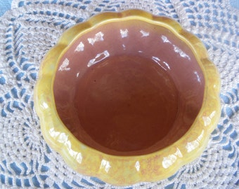 Gonder Pottery Gourd Bowl Vintage Planter