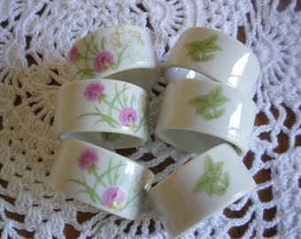 Vintage Shafford Japan Napkin Rings