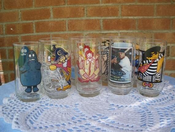Vintage McDonalds Glasses Eight