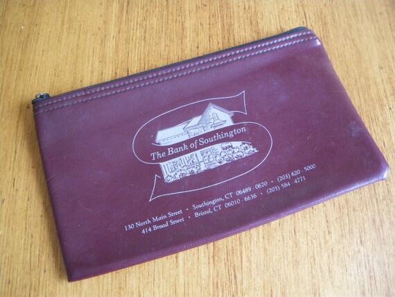 PRICE REDUCED Vintage Zippered Bank Deposit Bag