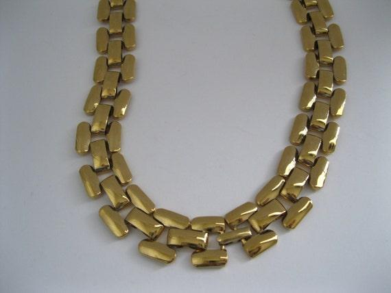 Napier Goldtone Necklace Choker Vintage