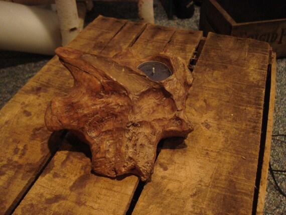 Driftwood Tea Light Candle Holder Reclaimed Wood