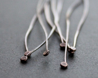 20 Handmade Oxidized Copper Headpins with a Flat Head 24 gauge