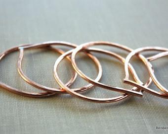 Handmade Jewelry Supplies, Copper Teardrop Components