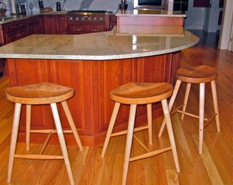 Relief stool made from locally harvested wild black cherry.