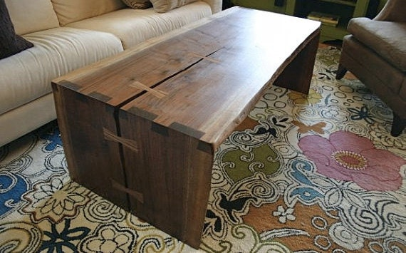 Natural edge coffee table.