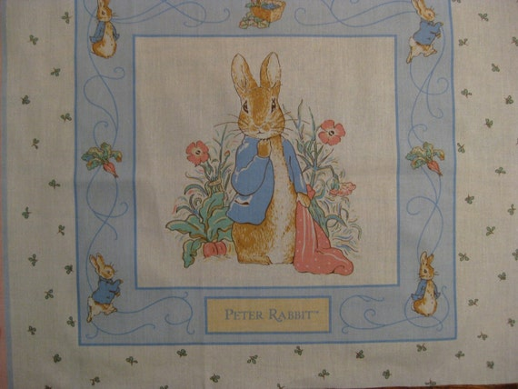 Vintage Beatrix Potter Quilt Panels Reserved For Janey56