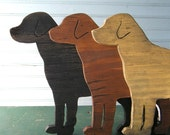 Lab Dog Sign Dog Black Yellow Chocolate Lab Wood Labrador Retriever