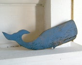 Moby Blue Sperm Whale Fish Ocean Nautical Decor Coastal Beach Decor - SlippinSouthern