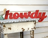 Howdy Wooden Sign Southern Greeting Howdy Y'all