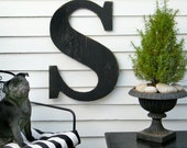 "24"" Extra Large Letter Large Wood Letters Shabby Chic Rustic Available in letters A-Z"