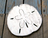 Beach Sand Dollar Coastal Decor Gulf Coast Wooden Sand Dollar