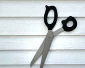 Scissors Oversized Prop Wooden Trade Sign Vintage Style