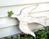 Wooden Peace Dove Sign Holiday Christmas Wall Hanging Decor George Washington's Mount Vernon Copula