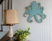 Octopus Wooden Coastal Wall Decor Beach Octopi Wall Art