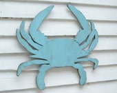 Blue Crab Decor Coastal Wall Decor Super Sized Blue Crab Wall Art