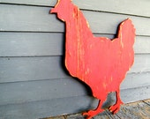 Chicken Hen Sign Barnyard Farm Sign Animal Wall Art Wooden