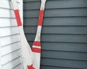 Oar Star Stripes Nautical Wall Decor  Boat Oars Beach House Lake House Decor