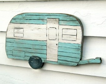 Happy Camper Sign Camping Trailer Sign Wanderlust Travel Trailer