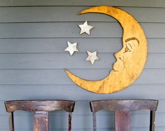 Moon Sign Nursery Decor Man in the Moon Large Scale Crescent Moon Photo Prop Halloween