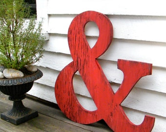 "Big Ampersand Large Wooden Letters 24"" Big Wooden Letters"