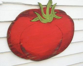 Tomato Vegetable Wood Vintage Style Kitchen Sign Farm Stand Sign Harvest