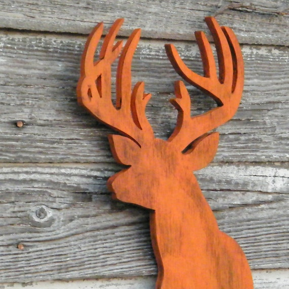 Deer Head Sign Modern Deer Decor Home Decor Wooden Trophy Buck Rustic Woodland