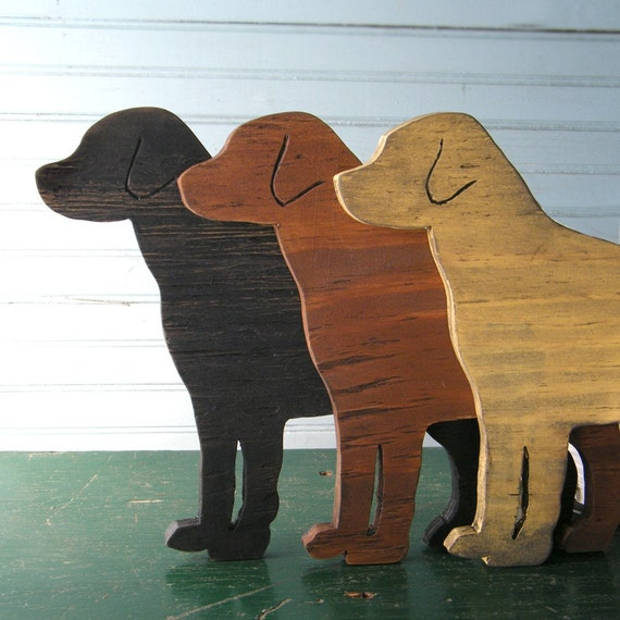 Lab Dog Sign Dog Black Yellow Chocolate Lab Wood Labrador Retriever