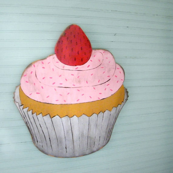 Cupcake Sign Large Wooden Sign