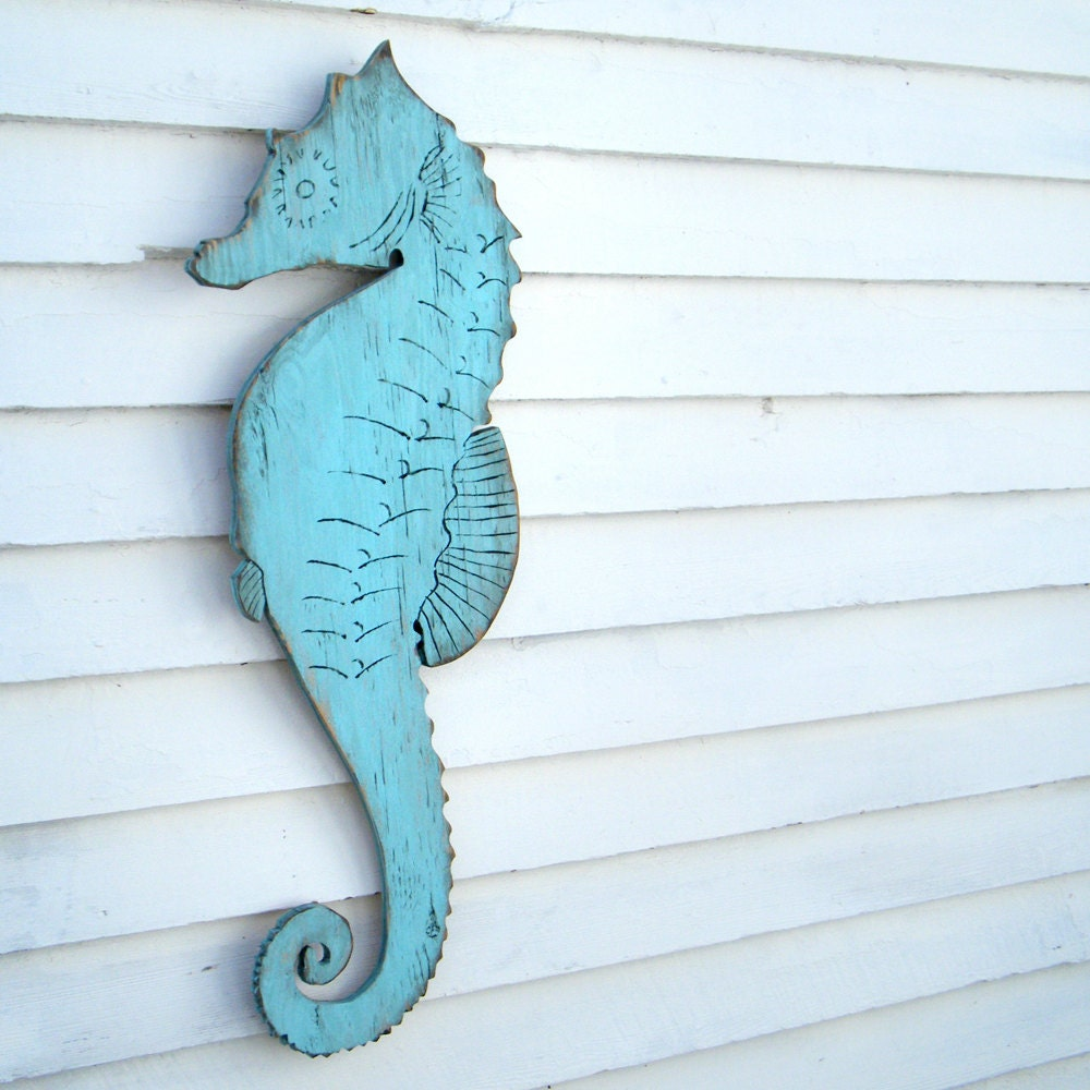 seahorse decor wooden sign beach coastal cottage seahorse wall. Black Bedroom Furniture Sets. Home Design Ideas