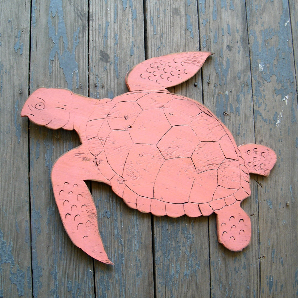 Sea Turtle Sign Small Swimming Wooden Sign Beach By