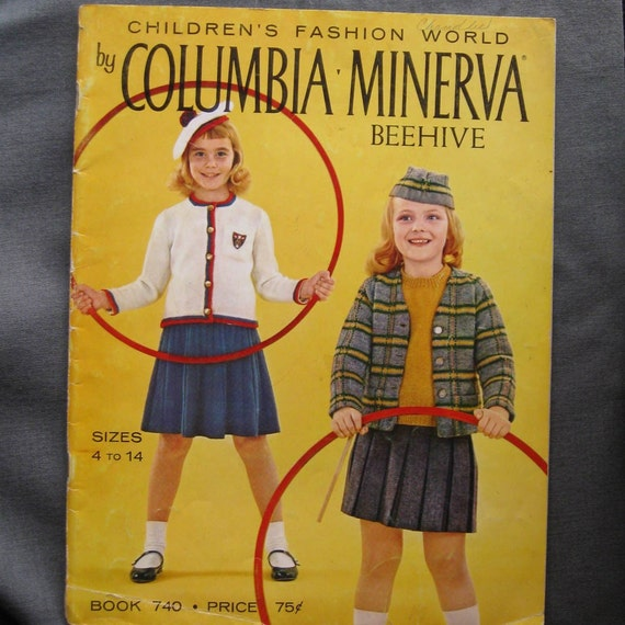Vintage book children's knits Columbia Minerva