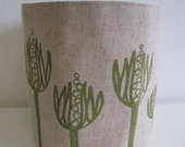 Twig Tub Storage Container Wildflower in Green