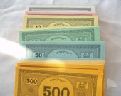 Lot of New Monopoly Money Opened  Cardmaking Paper for Crafts