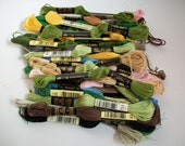 collection of embroidery yarn - spring fall summer color mix