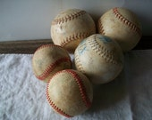 instant collection of 5 decorative base/soft balls - great guy-room decoratives - no. 5 mancave decor